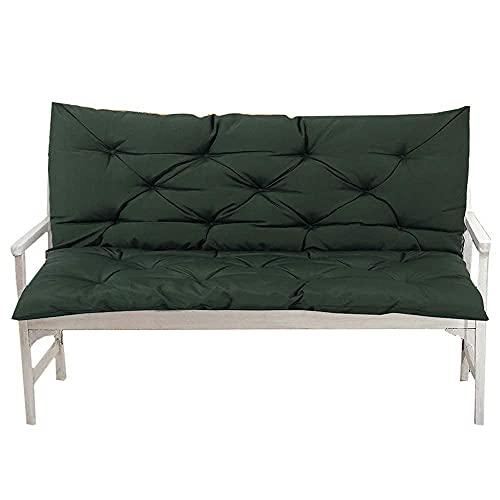 Trädgårdsbänk sittdyna med ryggstöd Ultra tjockt mjukt sittplatteskydd Vattentät madrass för inomhus utomhusbänk Swing 2 3-sits, svart, 39.4x19.7x3.9inch