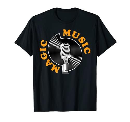 Music Magic, micrófono vintage y retro y grabación Camiseta
