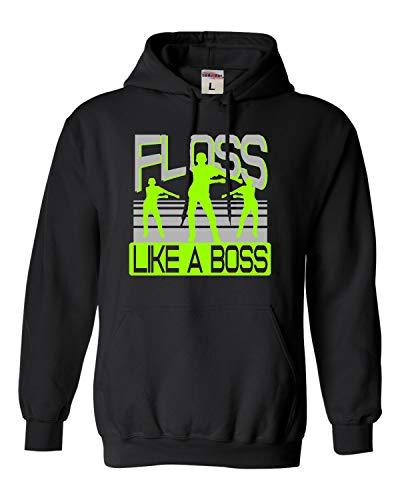 Small Black Adult Floss Like A Boss Sweatshirt Hoodie