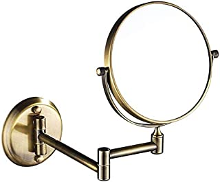 BMJ&C Bathroom Mirrors Wall Mounted Double-Sided Makeup Mirrors Magnifying for Bathroom, 360° Free Rotation, Extendable Anti-Fog,Spa and Hotel (Color : 04, Size : 8 incn/10X)