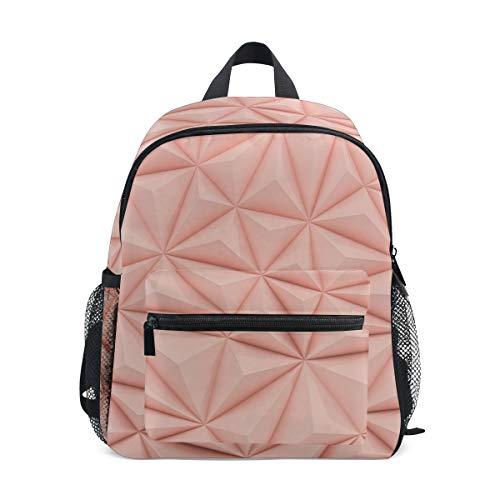 Kinder-Rucksack, Kinder-Schultasche, süßes Faultier auf Baum, Büchertasche für Jungen und Mädchen, Brustgurt Pink Geometrisch 038 Einheitsgröße