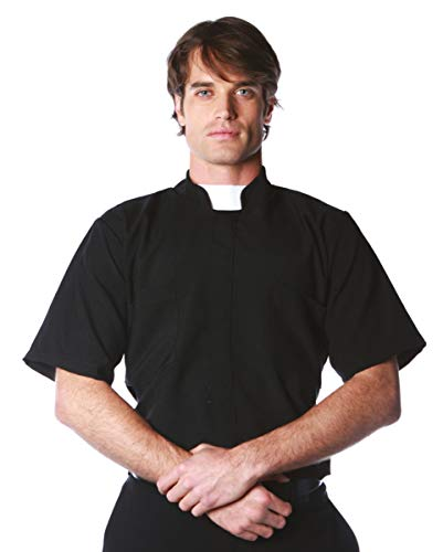Horror-Shop Pfarrer Hemd One Size