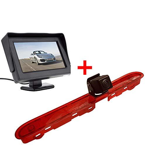【Rückfahrkamera Kit】 4.3 Zoll TFT LCD Bildschirm Auto Monitor + im 3.Bremslicht Bremsleuchte Rückfahrkamera Transportster für Citroen Dispatch/Toyota Proace/Peugeot Expert Traveller from 2016