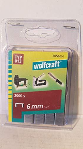 Wolfcraft 2000 Klammern breit, harter Stahl Typ 13 6 mm 7056000