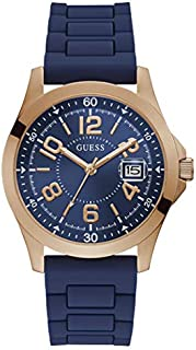 Guess Sport Watch for Men, Stainless Steel Case, Blue Dial, Analog -GW0058G3