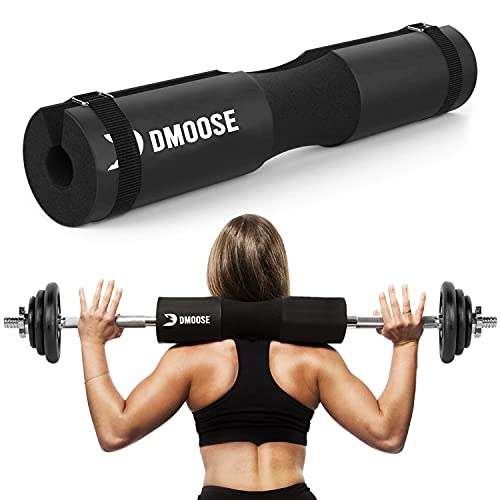 DMoose Barbell Pad for Hip Thrust Machine, Squat Bar Pad Stayed in Fixed Position, Squat Pad Barbell Pad