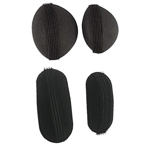 4 Pcs Black Bump It Up Volume Hair Base Styling Insert Tool Hair Clip Volume Padding Bun Updo Hair Bun Maker Hair Accessories for Women Girls