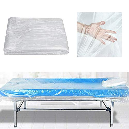 """100PCS Disposable Bed Sheets for Massage Facial Waxing and Body Treatments 71"""" x 35"""" Headrest Covers for Massage Tables & Massage Chai"""