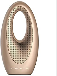 Nrpfell Multifunctional Outdoor Speaker Tf Card USB Audio Radio for Mobile Computer Music Speakers-Gold