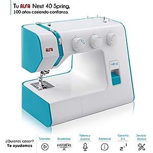 Alfa NEXT 40 Spring – Máquina de coser con 25 puntadas, color azul cielo