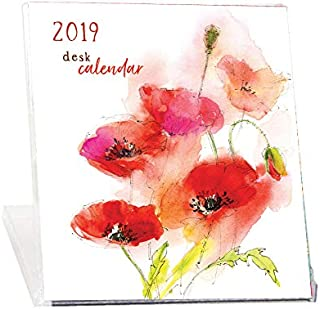 2019 Floral CD Case Desk Calendar-Art by John Keeling Paintings