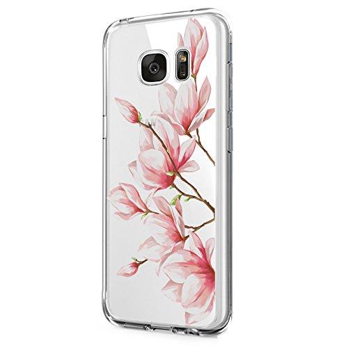 Pacyer compatibel met Galaxy S6 Edge Plus Case, TPU Silicone Phone Case Case [Slank] Liquid Crystal Transparent Bloemen Ontwerp Leuke zoete boom beschermhoes Cover
