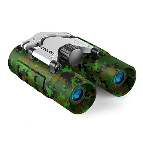 Obuby Real Binoculars for Kids Gifts for 3-12 Years Boys Girls 8x21 High-Resolution Optics Mini Compact Binocular Toys Shockproof Folding Small Telescope for Bird Watching,Travel, Camping, Camo