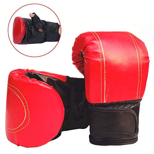 OhhGo Guantes de Boxeo 1 par Entrenamiento de Boxeo Lucha Muay Thai Sparring puñetazos Kickboxing Grappling Guantes de Saco de Arena para Hombres Mujeres