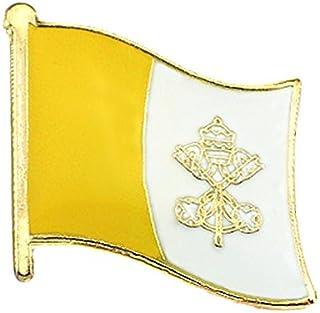 ピンバッジ バチカン市国の国旗デラックス薄型キャッチ付き ピンズ VATICAN CITY STATE CITTA DEL VATICANO ピンバッチ