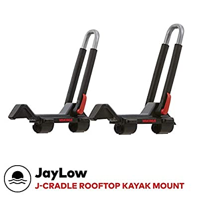 YAKIMA - JayLow Rooftop Mounted Kayak Rack for Vehicles, Carries Up to 2 Kayaks