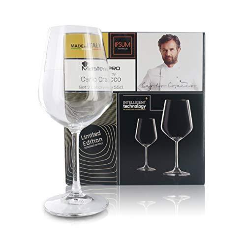 Copas de Vino De Cristal | 2 Unidades | Altura: 22 Cm | Capacidad 55 Cl | Colección MasterPRO