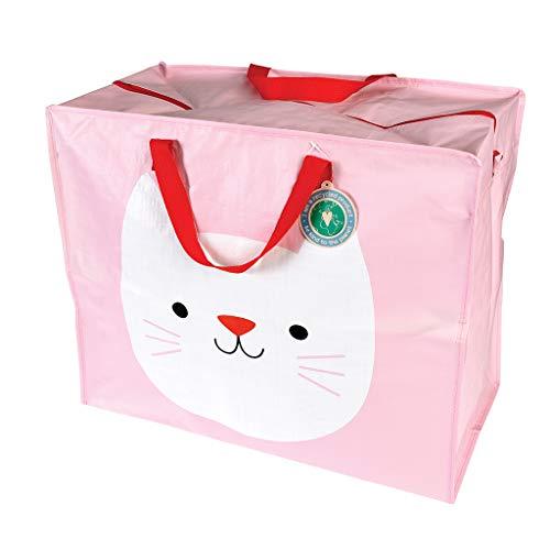 Rex London - Riesentasche, Aufbewahrungstasche, XXL Tasche mit Reißverschluss - Cookie The Cat - Katze