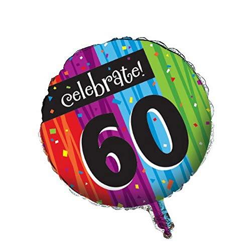 Creatieve converterende partij decoratie ronde metalen ballon, mijlpaal vieringen 60