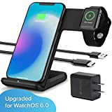 OCOMMO Upgraded 2 in 1 Wireless Charger for Apple Watch 5,4,3,2,1, iPhone 11, 11 PRO, 11 MAX PRO, XS MAX, XR,...
