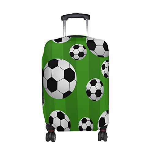 MyDaily Fußball-Gepäckabdeckung, passend für 45,7-81,3 cm Koffer, Spandex, Reiseschutz
