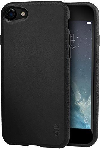 Smartish iPhone 8 / iPhone 7 Slim Case - Kung Fu Grip [Lightweight + Protective] Thin Cover for Apple iPhone 7/8 (Silk) - Black Tie Affair
