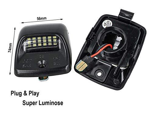 Carell LE8207 LED-Kennzeichenbeleuchtungsset, kompatibel mit Toyota Tacoma 2005-2015 Tundra 2000-2013, Canbus Weiß, 6000 K, 12 V, 5 W, kein Fehler
