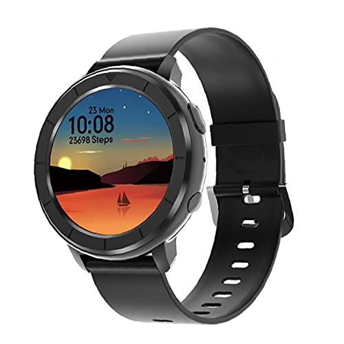 Runfon Rastreador de Ejercicios Reloj Inteligente Impermeable Llamada Bluetooth Ritmo cardíaco Deportivos rastreadores Reloj Q19 Negro