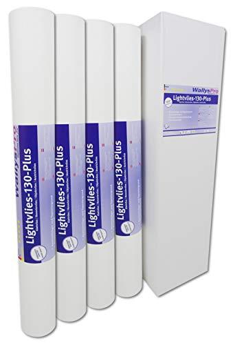 4x Glattvlies Renoviervlies Lightvlies 130 Plus (75m²) überstreichbare Vliestapete glatt
