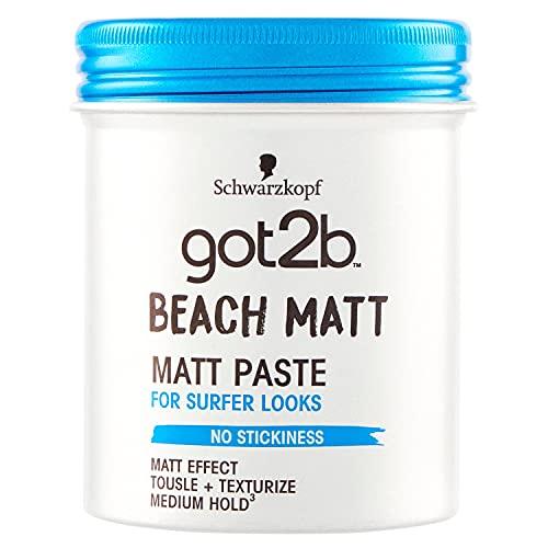 Got2b - Cera fijadora Beach Matt, 100 ml, Con efecto mate, Fijación media, No es pegajoso