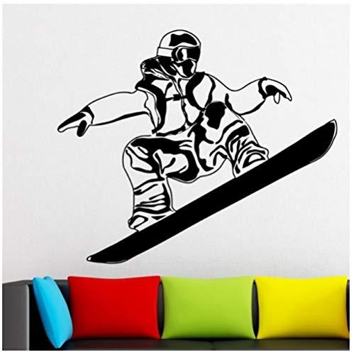 Hanzeze Ski auto sticker snowboard sticker ski poster board vinyl muursticker decoratie 45x53 cm