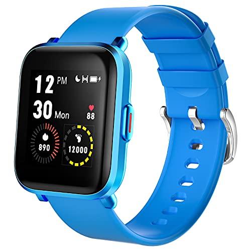 LIFEBEE Smartwatch, Reloj Inteligente Impermeable IP68 para Hombre Mujer y Niños, Pulsera de Actividad Inteligente con Monitor de Sueño Caloría Pulsómetros para Android y iOS
