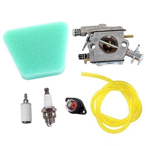 AISEN Carburateur + Filtre à Air pour Walbro WT-89 891 Tronçonneuse Poulan Sears Craftsman 530069703 530035343 530071620 545006058 545006057
