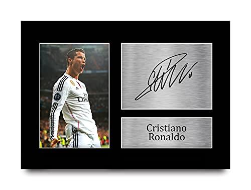 HWC Trading Cristiano Ronaldo A4 Unframed Signé Image Autographe Imprimé Impression Photo Cadeau D'Affichage pour Real Madrid Fans De Football