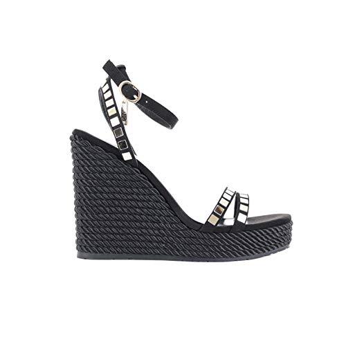 Liu-Jo S19089T9122 Sandalo Zeppa Donna Nero 38