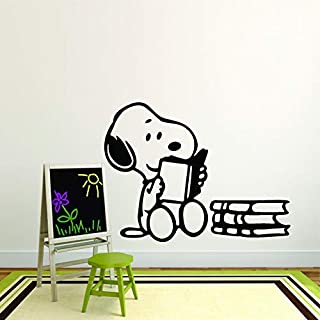 Snoopy Wall Decals for Kids Bedroom/Snoopy Dog Boy Room Decor/Vinyl Art Stickers Decal Childrens Rooms/The Peanuts Movie C...