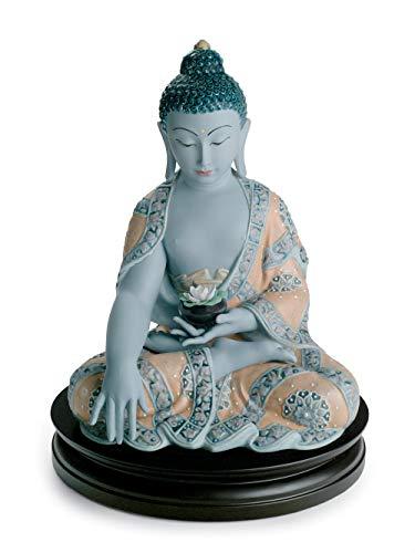 LLADRÓ Medicine Buddha Figurine. Porcelain Buddha Figure.