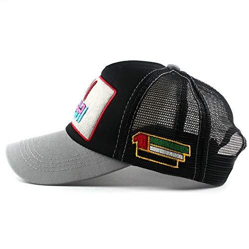 XCLWL Cap Herren Frauen Mesh Dubai Baseball Cap Stickerei Cap Hut Für Männer Mädchen Hysteresenhut Gorra Hombre Hut Casual Cap Papa Hut A