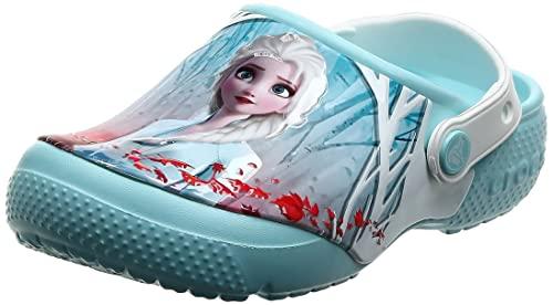 Crocs CrocsFL OL Disney Frozen2 Cg K Unisex - Bambini Zoccoli, Zoccoli, Blu (Ice Blue), 22/23 EU