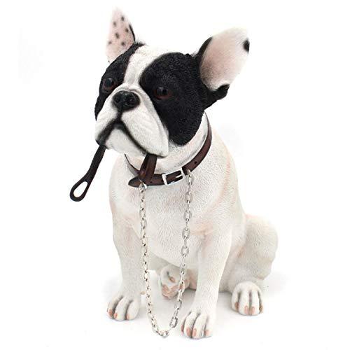Lesser & Pavey Walkies Dekofigur Französische Bulldogge, sitzend, 18 cm, Weiß/Schwarz