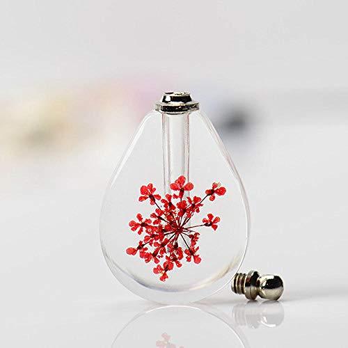 Craftscmq Skulptur Statuen Kristallfläschchenanhänger mit 4 Parfums in Einer Miniaturkette und Einer Flasche ätherischem Öl