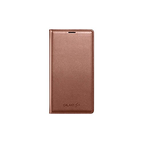 Samsung EF-WG900 - Funda para móvil Galaxy S5 (con Bolsillo Interior para Tarjetas), Rosa Dorado