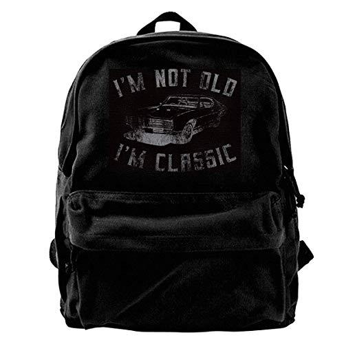Yuanmeiju Zaino in Tela I'm Not Old I'm Classic Backpack Casual Daypack