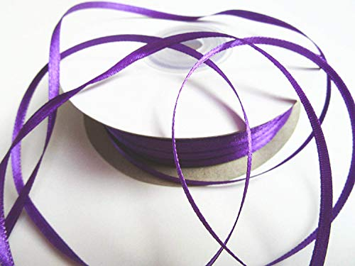 CaPiSo® 100m Satinband 3mm Schleifenband,Geschenkband,Dekoband,Satin Hochzeit,Weihnachten (100m 3mm, Lila)