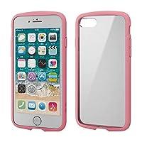 エレコム iPhone 8 / iPhone 7 ケース 耐衝撃×フレーム TOUGH SLIM LITE [背面クリアタイプ] ピンク PM-A17MTSLFCPN