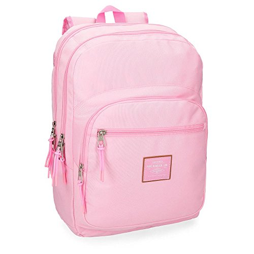 Pepe Jeans Cross Mochila doble compartimento, 44 cm, color Rosa