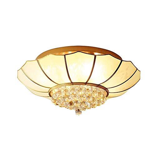 YANQING Duurzame LED Alle Koper Amerikaanse Glas Crystal Plafond Lamp Slaapkamer Eetkamer Lamp Crystal Studie Kamer Lamp Warm Gang Aisle Kamer Verlichting Leven