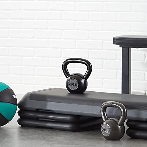 Amazon Basics Enamel Cast Iron Kettlebell - 35 Pounds, Black