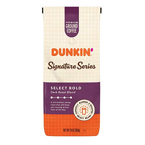 Dunkin' Signature Series Select Bold Dark Roast Blend Ground Coffee, 10 Ounces (Pack of 6)