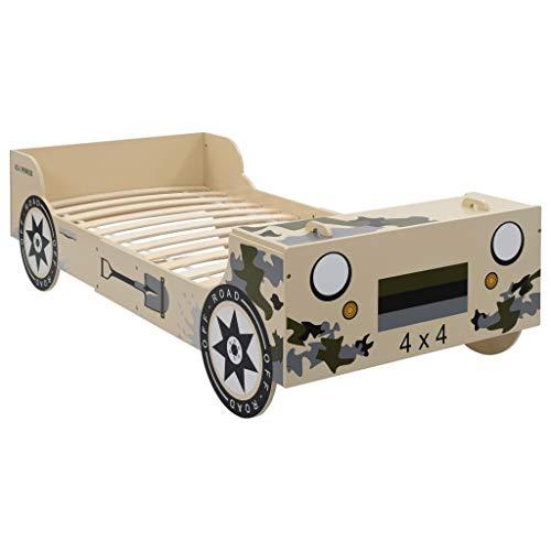 vidaXL Kinderbed Terreinwagen 90x200 cm Camouflage Autobed Themabed Kinder Bed